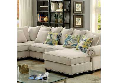 Image for Skyler Ivory Sectional w/Pillows