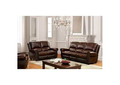 Image for Turton Brown Leather Sofa
