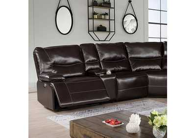 Image for Alayna Dark Brown Power Sectional