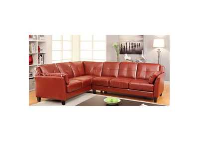 Image for Peever Mahogany Red Sectional