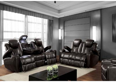 Image for Zaurak Dark Gray Sofa and Loveseat w/4 Recliners