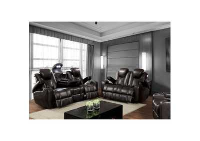 Image for Zaurak Dark Gray Loveseat w/2 Recliners