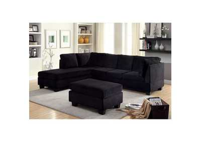 Image for Lomma Black Sectional