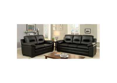Parma Black Loveseat,Furniture of America
