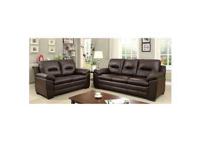 Parma Brown Loveseat,Furniture of America
