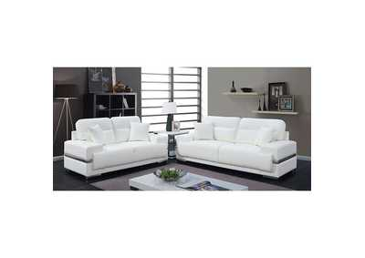 Image for Zibak White Sofa and Loveseat