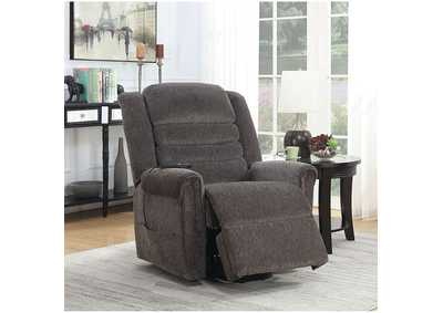 Image for Ovar Brown Chenille Power Recliner