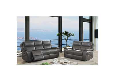 Image for Lila Gray Power-Assist Loveseat