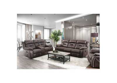 Flint Brown Loveseat,Furniture of America