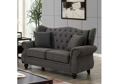 Ewloe Grey Loveseat,Furniture of America