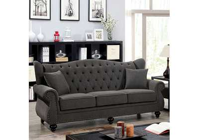Ewloe Grey Sofa,Furniture of America