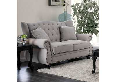 Ewloe Gray Loveseat,Furniture of America