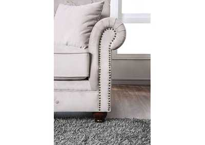 Tamika Beige Loveseat,Furniture of America