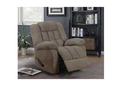 Piper Warm Gray 360 Glider Recliner,Furniture of America