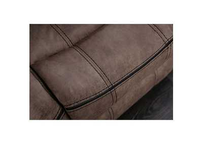 Celia Brown Leatherette Reclining Sofa,Furniture of America