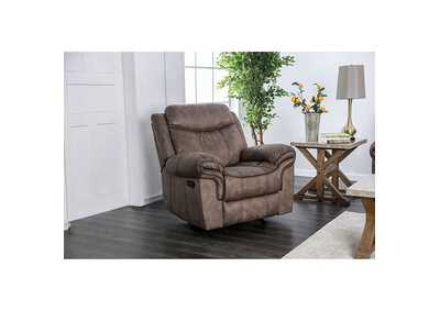 Celia Brown Leatherette Reclining Chair,Furniture of America
