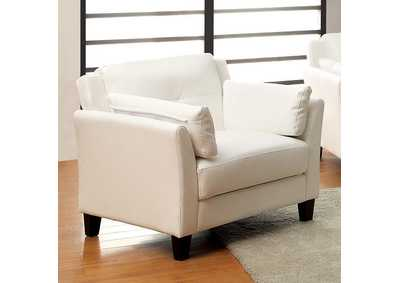Pierre White Chair,Furniture of America