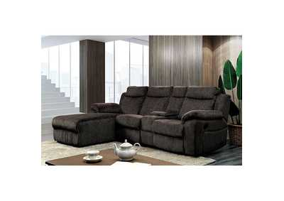 Image for Kamryn Brown Sectional w/ Console