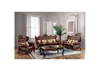 Jericho Brown Sofa w/Pillows,Furniture of America