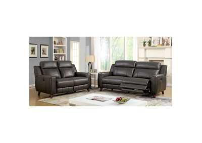 Image for Rosalyn Gray Leather Gel Power Reclining Chair