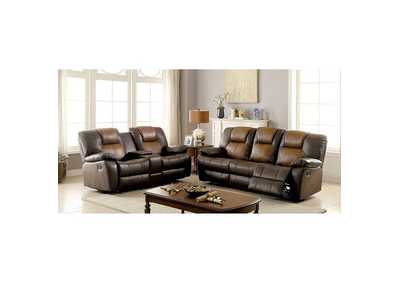 Image for Pollux Dark Brown Sofa w/2 Recliners