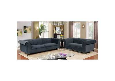 Gresford Navy Stationary Sofa,Furniture of America