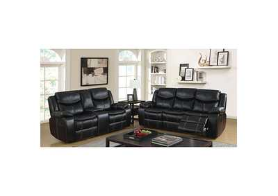 Image for Pollux Black Sofa w/2 Recliners