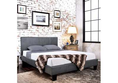Image for Winn Park Gray Leatherette Upholstered Eastern King Platform Bed