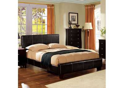 Image for Uptown Upholstered Espresso California King Platform Bed