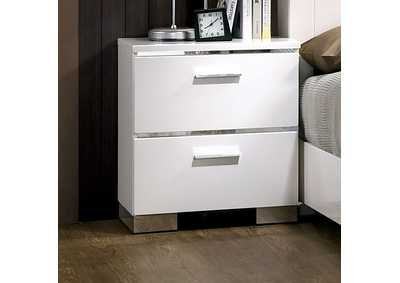 Image for Malte White Nightstand