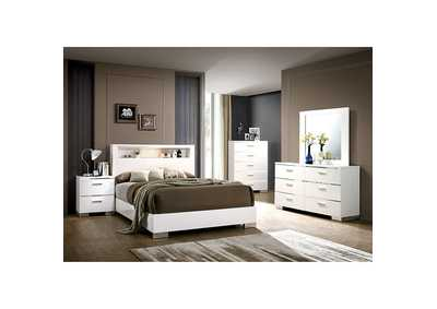 Image for Malte White Panel Queen Bed
