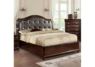 Image for Arden Brown Upholstered Platform Eastern King Bed