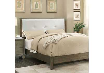 Image for Enrico I Gray Queen Upholstered Platform Bed