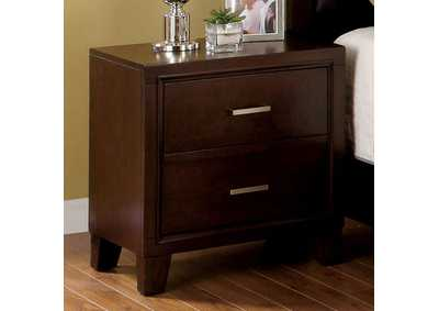 Gerico II Brown Nightstand,Furniture of America