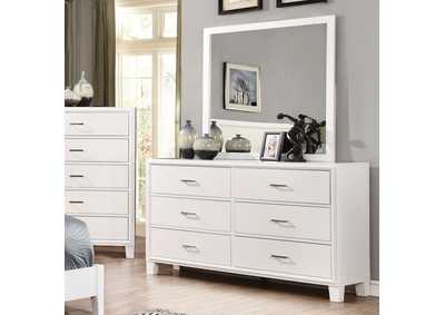 Enrico I White Dresser,Furniture of America