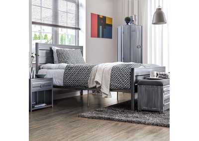 Mccredmond Hand Brushed Silver Full Bed,Furniture of America