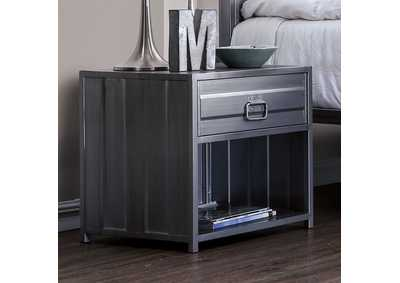 Image for Mccredmond Hand Brushed Silver Night Stand