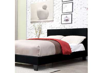 Image for Sims Black California King Platform Bed
