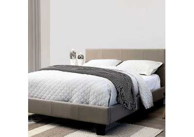 Sims Gray Eastern King Platform Bed