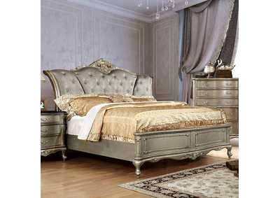 Image for Johara Gold Upholstered/Platform Queen Bed