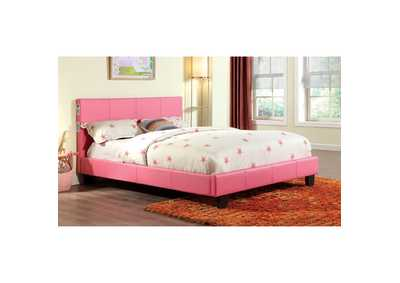 Image for Evans Pink Eastern King Platform Bed