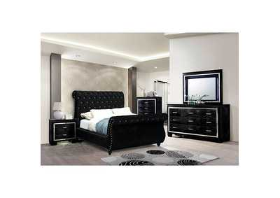 Noella Black Queen Sleigh Bed,Furniture of America