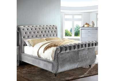 Image for Noella Gray Upholstered Eastern King Sleigh Bed
