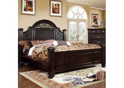 Image for Syracuse Dark Walnut Queen Poster Bed