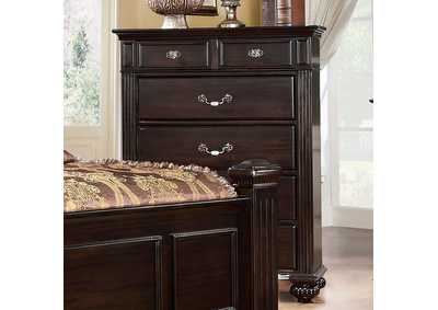 Syracuse Dark Walnut Drawer Chest,Furniture of America