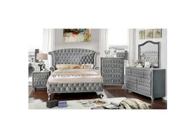 Alzir Gray Upholstered Chest