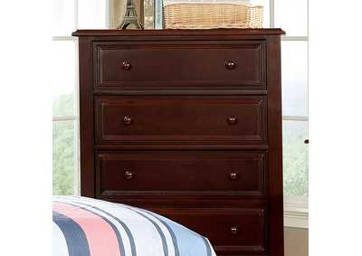 Image for Olivia Dark Walnut Drawer Chest