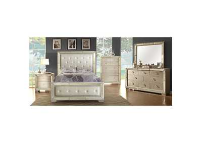 Loraine Champagne Queen Bed,Furniture of America