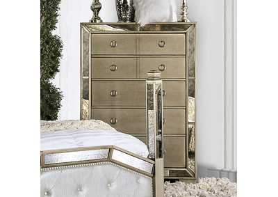 Loraine Champagne Chest,Furniture of America