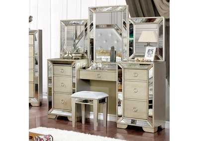 Image for Loraine Champagne Vanity Set
